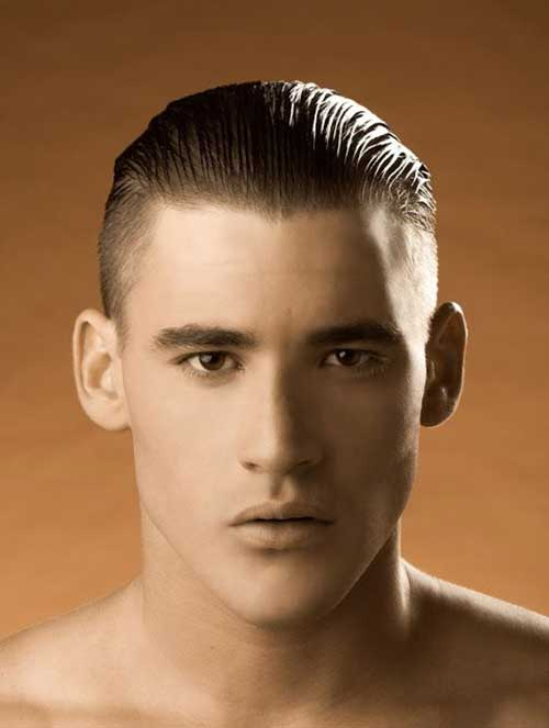 Slicked Back Pompadour with Bald Fade