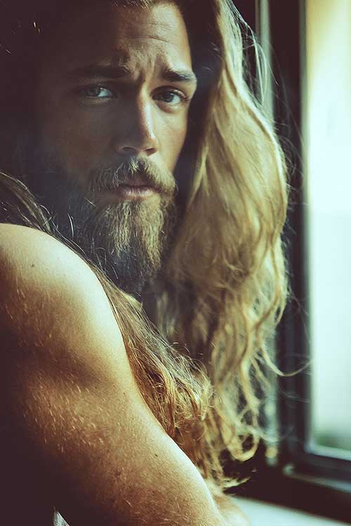 Sexy men with long hair images 51