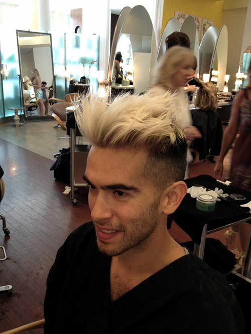 Blonde Colors for Men with Faded Haircut