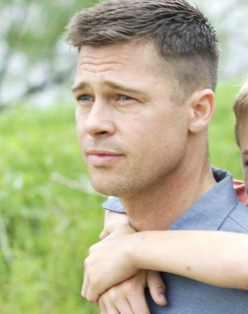 Brad Pitt Military Haircuts for Men