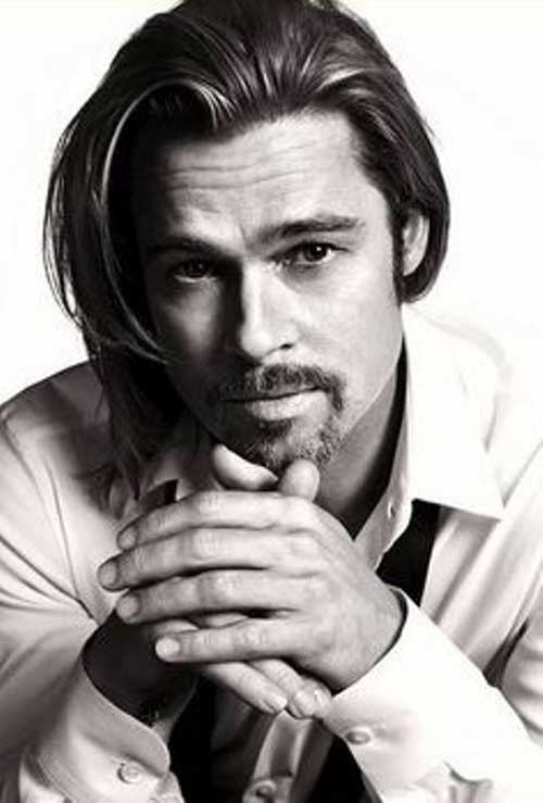 Brad Pitt Slicked Hairstyles
