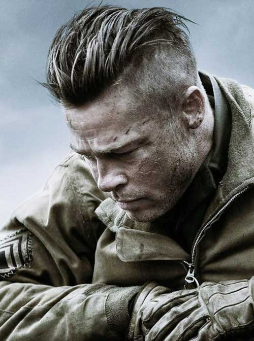 brad pitt fury hair - photo #3