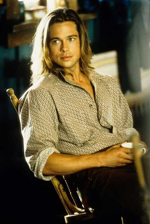 Brad Pitt Celeb Long Hair