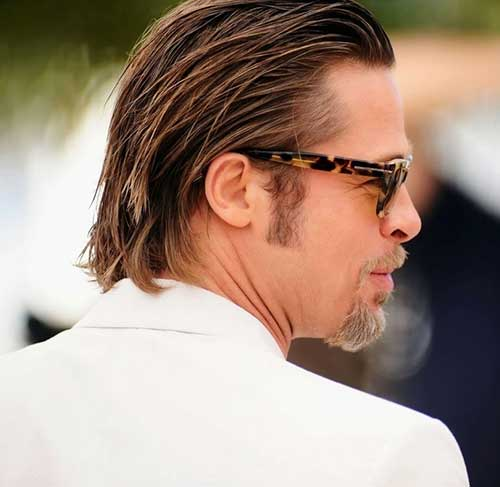 Brad Pitt Back Straight Hairstyles