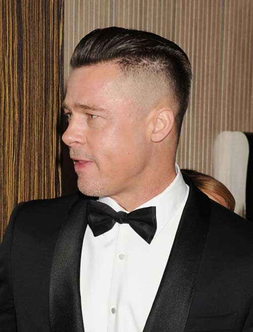 Brad Pitt Shaved Hairstyles Sides