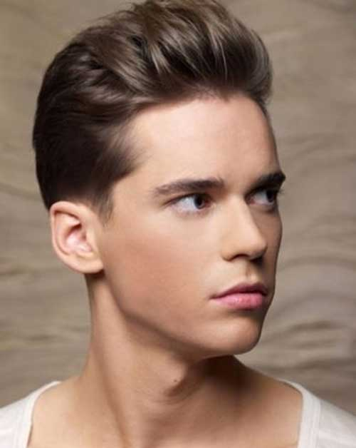 Straight Brown Haircut for Trendy Men