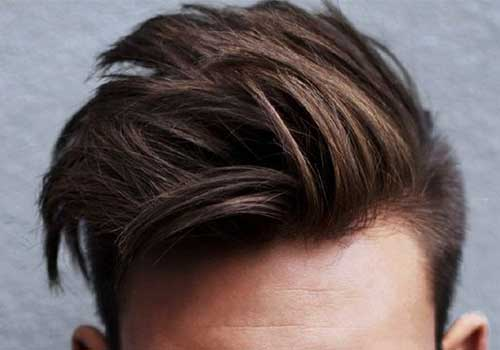 Brown Layered Hair with Undercut