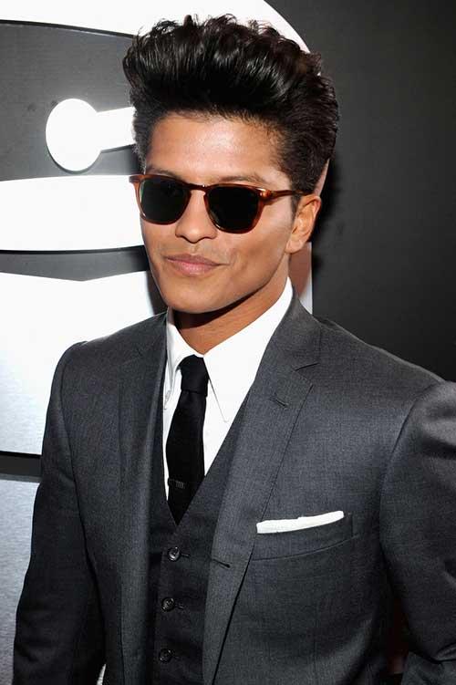 Bruno Mars Pompadour Hairstyles