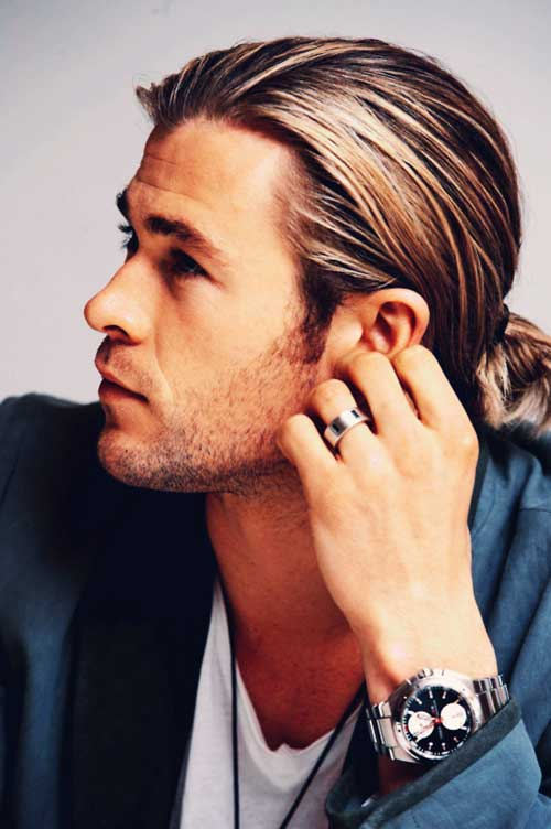 Chris Hemsworth Hairstyles for Men Long Hair
