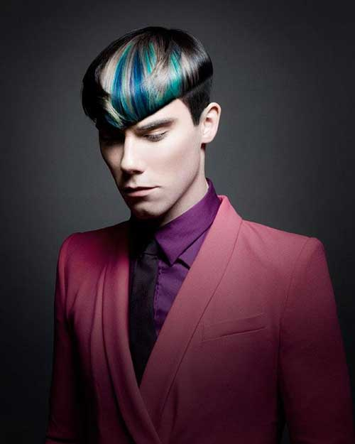 Very Colorful Hair Ideas for Men