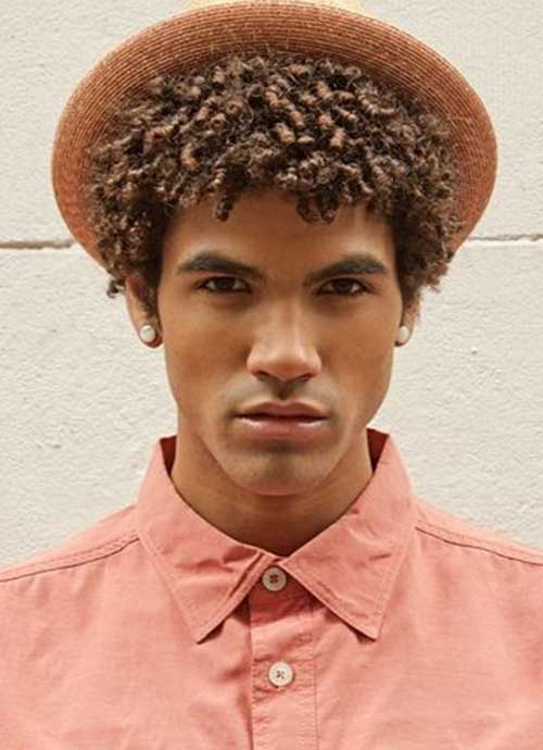 Natural Cool Hairstyle for Black Men