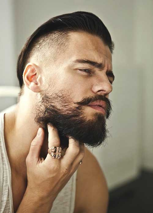 Cool Side Shaved Pompadour Haircuts for Men