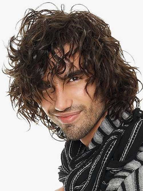 Messy Curly Long Hairstyles for Men