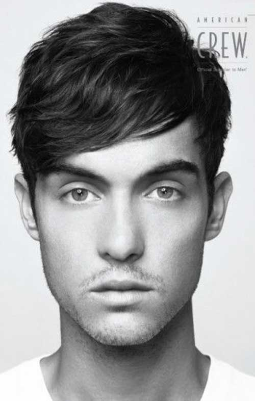 Dark Medium Haircuts for Men