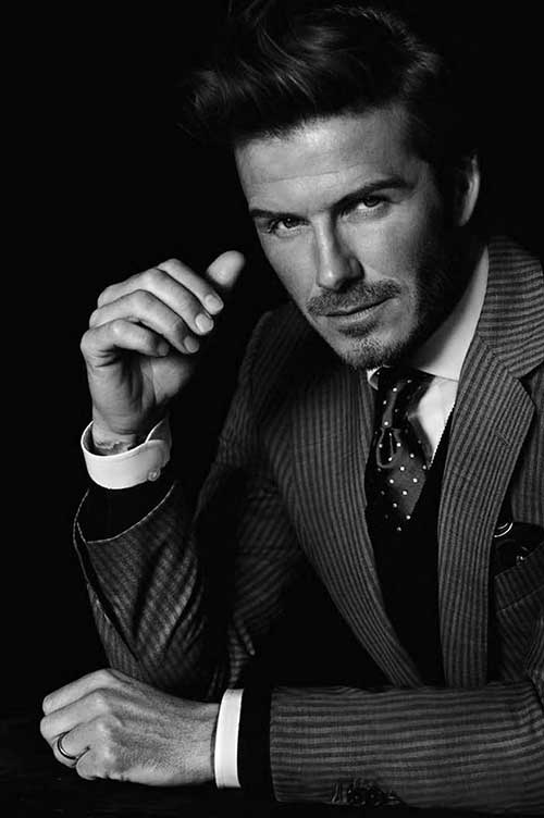 David Beckham Classical Hairstyle for Business Men