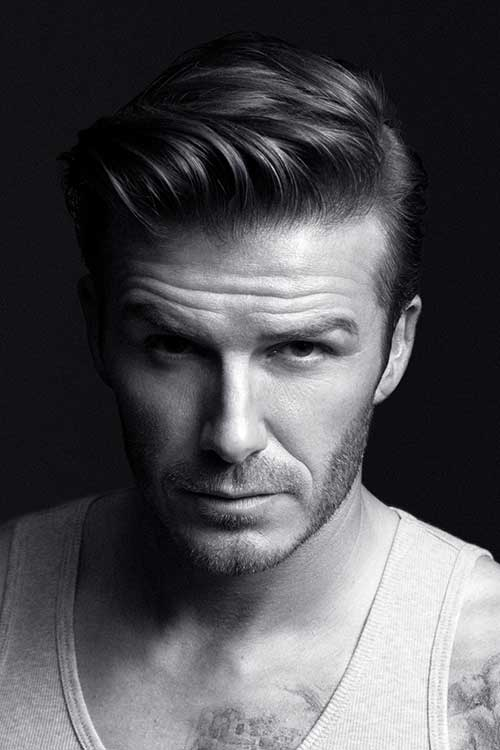 David Beckham Comb Over Hairstyles