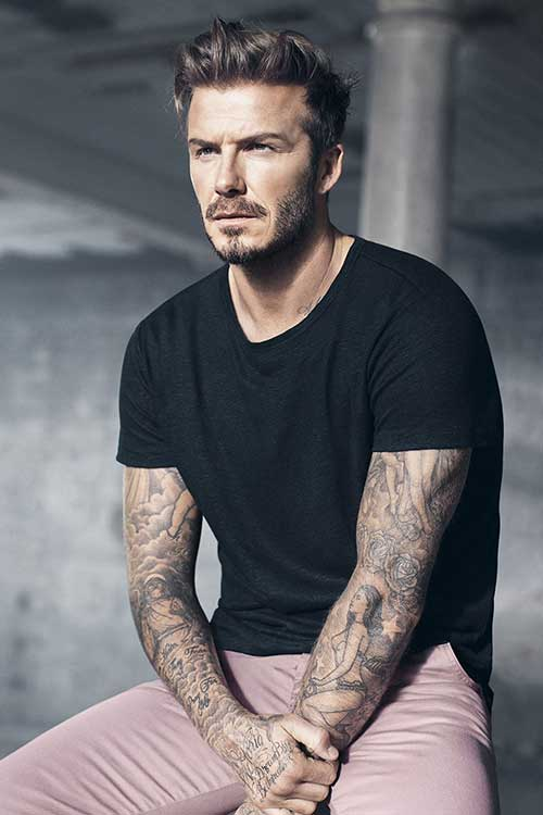 David Beckham Trendy Mens Haircuts 2015