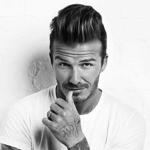 David Beckham Pompadour Hairstyles for Men