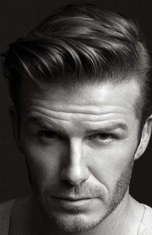 David Beckham Side Swept Straight Hair