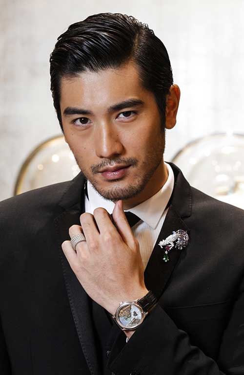 Godfrey Gao Slicked Hairstyle
