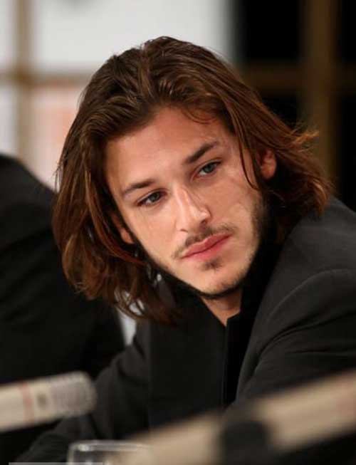 Gaspard Ulliel Hairstyle with Long Hair