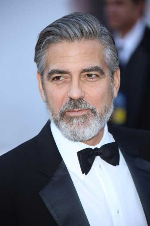 George Clooney Hairstyles for Older Men