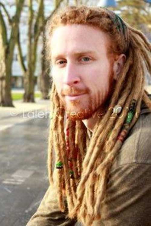Ginger Dreads Style for White Men