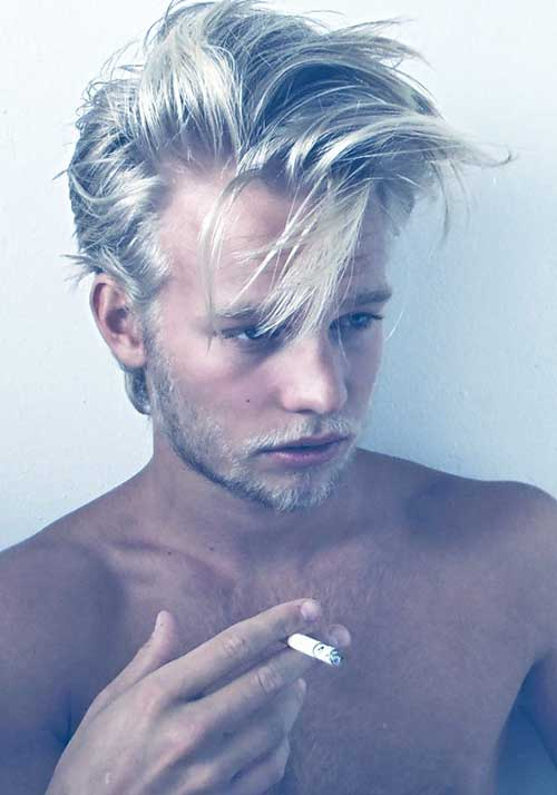 Grey Color Ideas Medium Hair for Men
