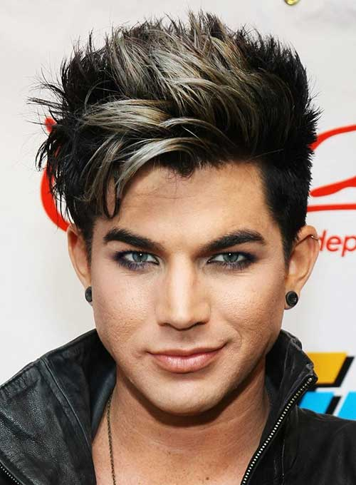 Adam Lambert Guys with Colored Hair