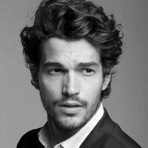 New Curly Hairstyles for Men 2015