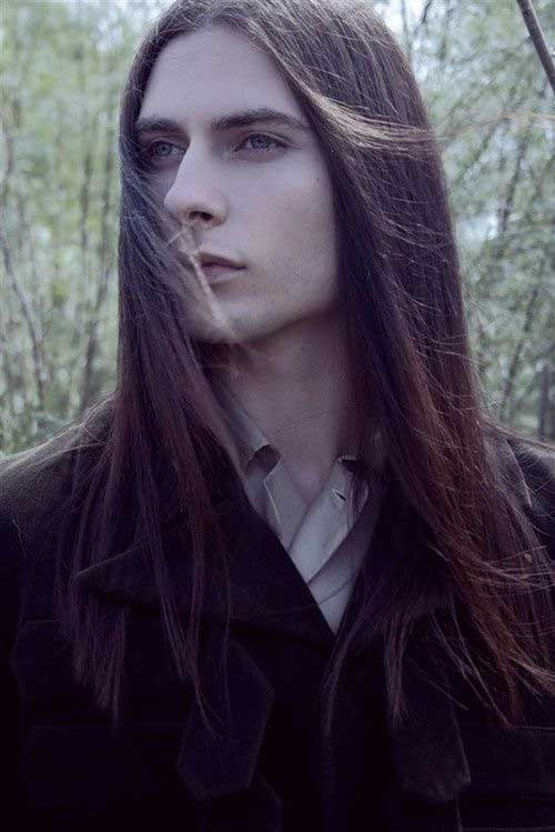 Long Haired Man Male Models Picture