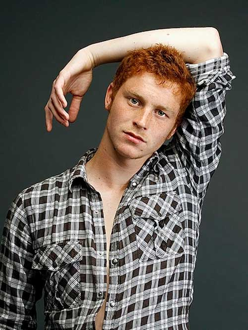 Trendy Natural Hot Red Haired Men