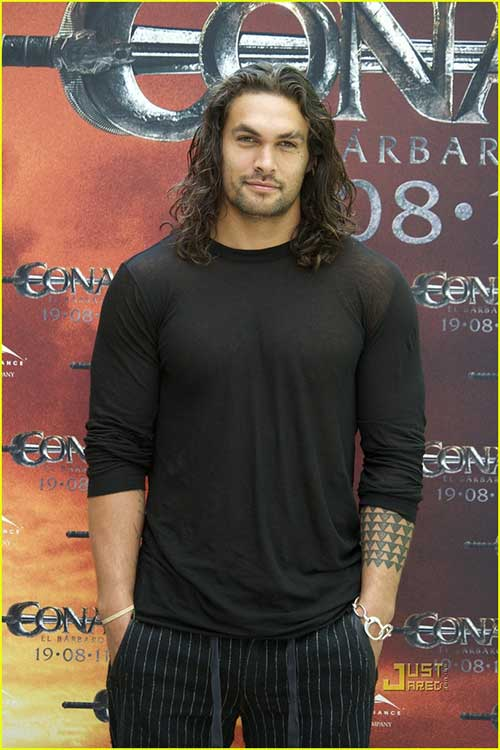 Jason Momoa Long Hairstyles for Men 2015
