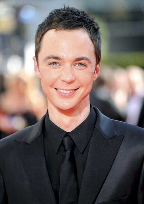 Jim Parsons Short Messy Hairstyles for Men