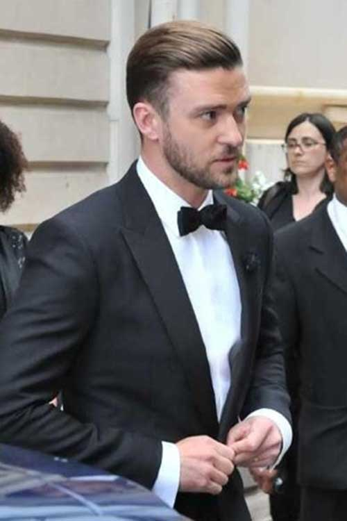 Justin Timberlake Straight Hair Undercut