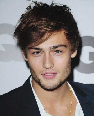 Douglas Booth Layered Hairstyle for Men
