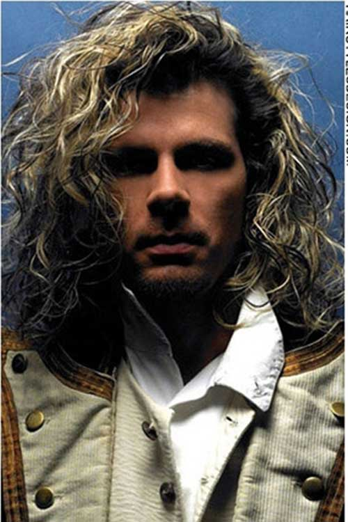 Long Curly Blonde Hairstyles for Men