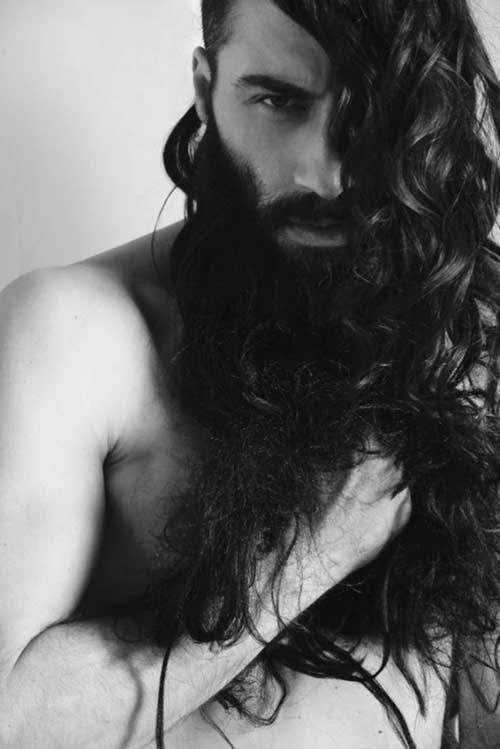 Extremely Long Curly Hair Mens