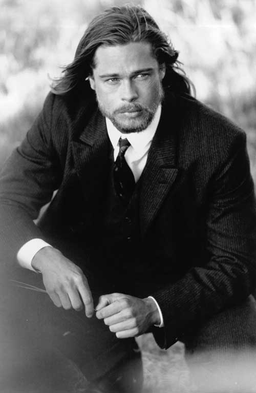 Brad Pitt Long Hair Male Celebrities