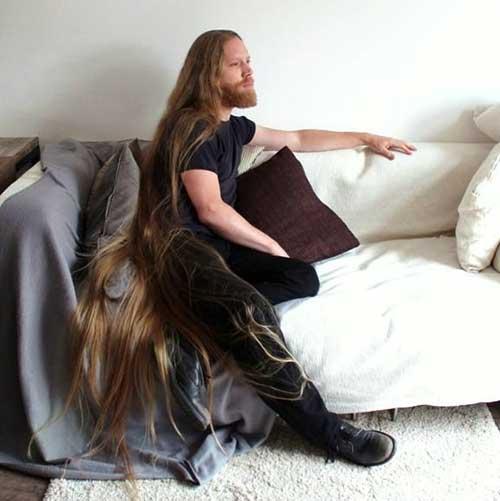 Long Natural Ginger Men Hairstyles