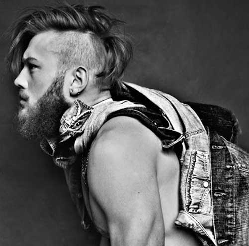 Long Mohawk Undercut for Men