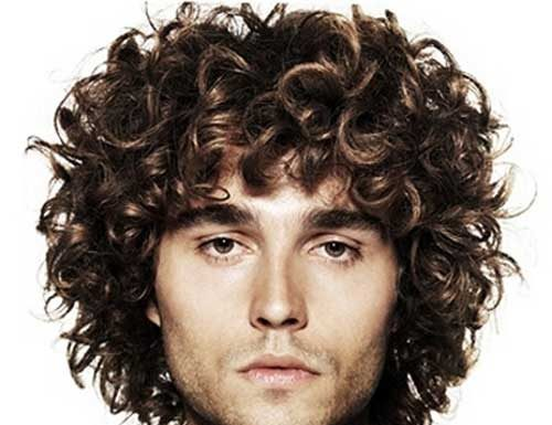 Cool Medium Curly Hairstyles for Men
