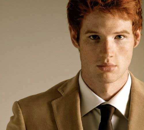 Redhead Men Hair Colour