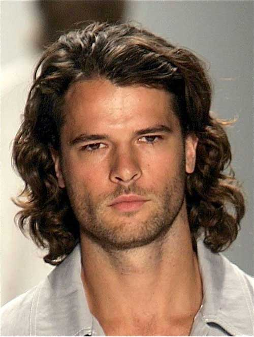 Men Long Hairstyles with Curls