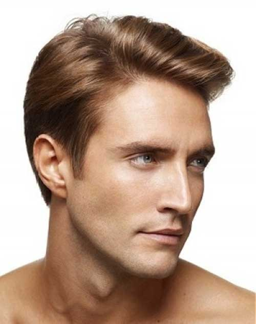 Men Medium Hairstyles Brown Colored 2015