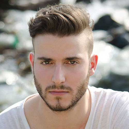 Trendy Men's Undercuts with Side Parts