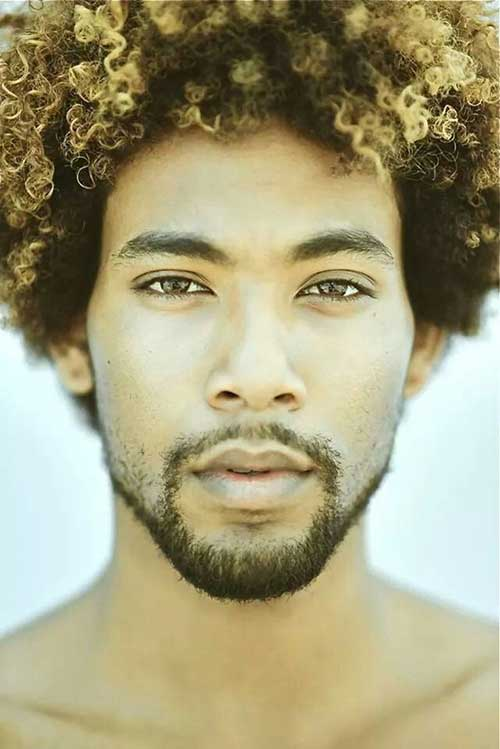 Black Men Natural Hair with Mens Hair Colour