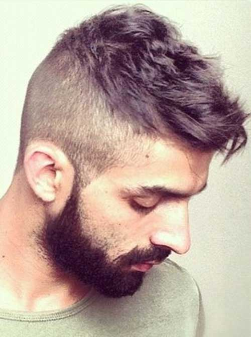 Mens Haircut Shaved Sides Idea 2015