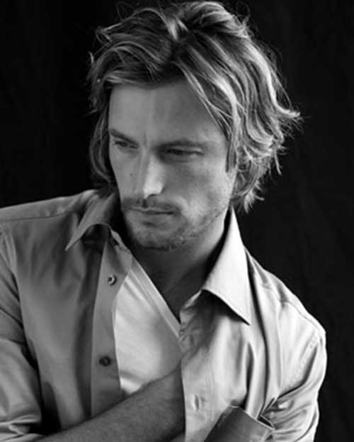 Gabriel Aubry Mens Hairstyles Fine Hair