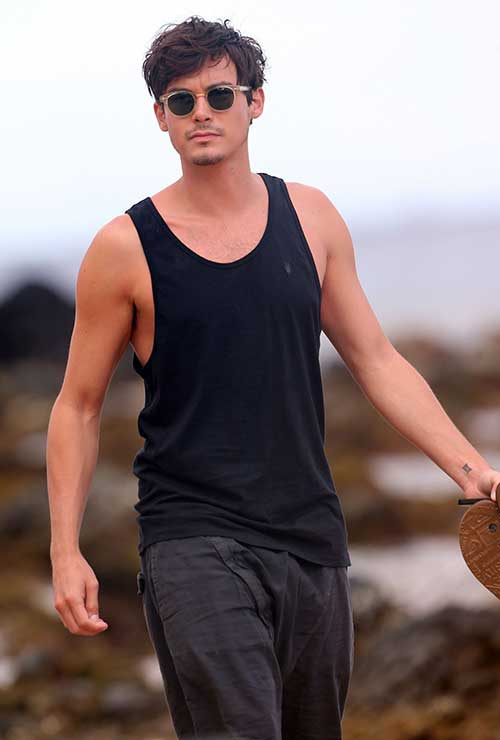 Tyler Blackburn Mens Layered Hairstyles